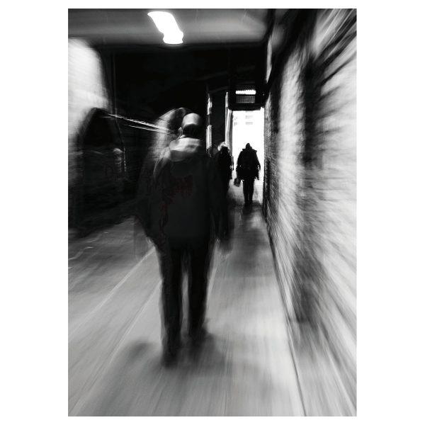 Fine Art Fotografie Niels Kemp witte achtergrond Moving Man
